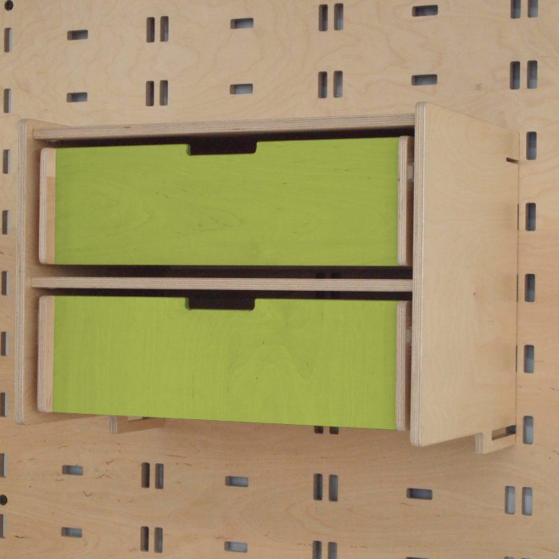 Klik Double Drawer Lime Green
