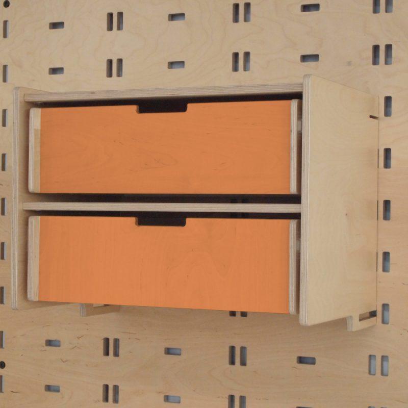 Klik Double Drawer Orange