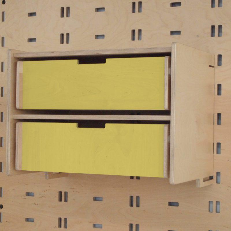 Klik Double Drawer Yellow