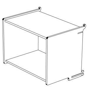 Klik Large Box Shelf Open