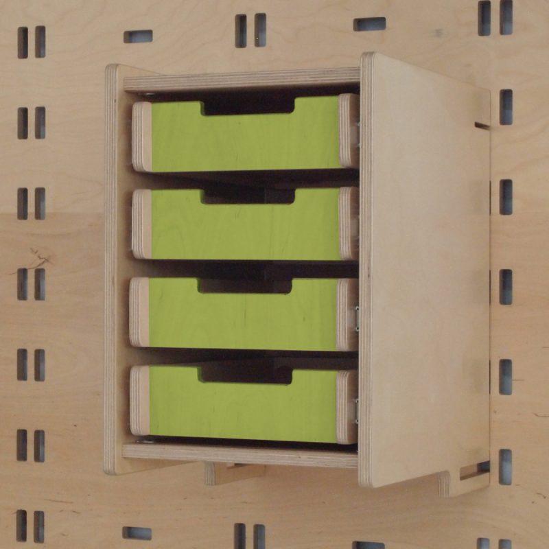 Klik Office Drawers Lime Green