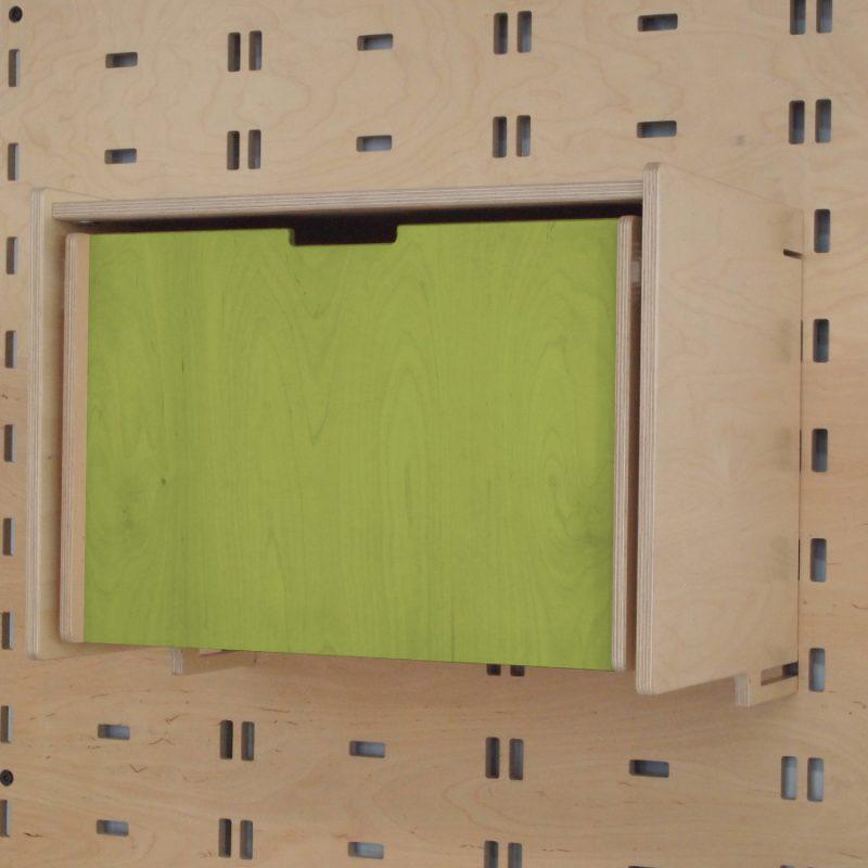 Klik Single Drawer Lime Green