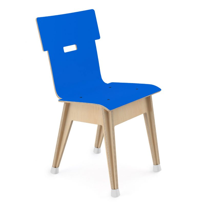 Din+ Dining Chair Laminate Atlantic Blue