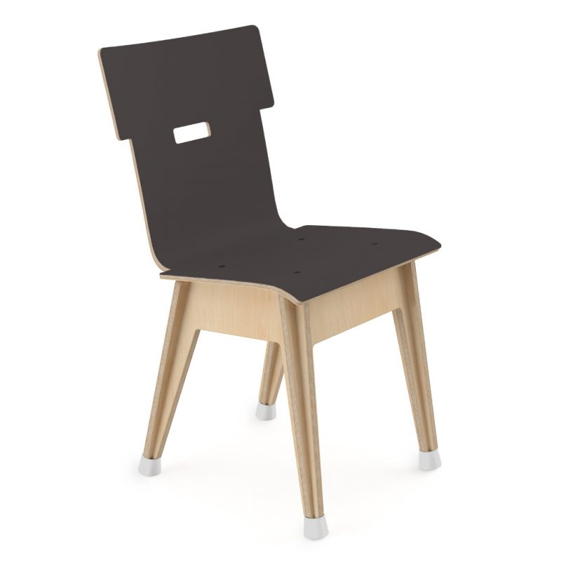 Din+ Dining Chair Laminate Charcoal