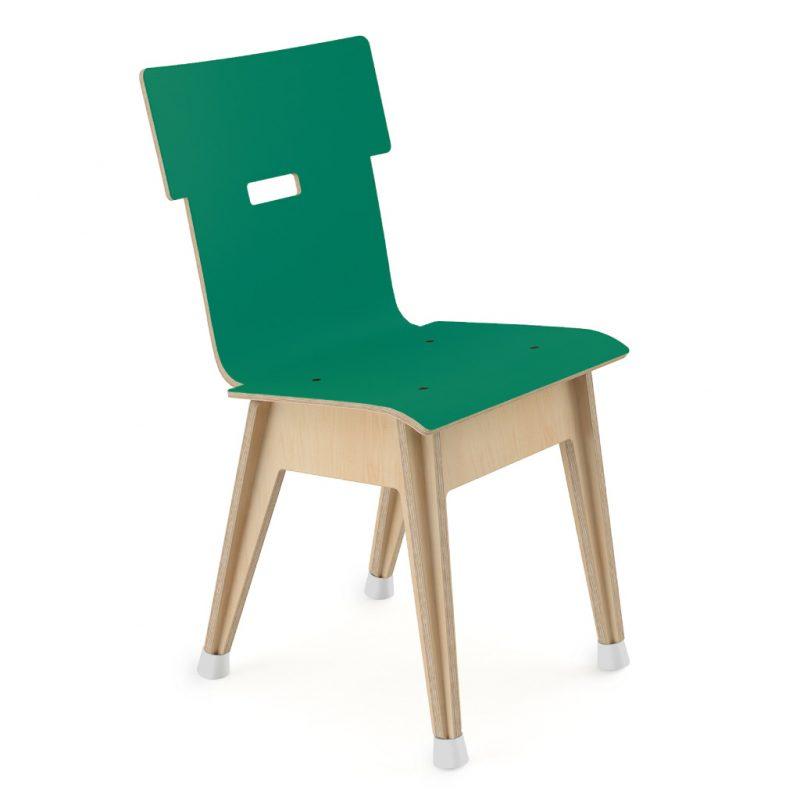 Din+ Dining Chair Laminate Grass Green