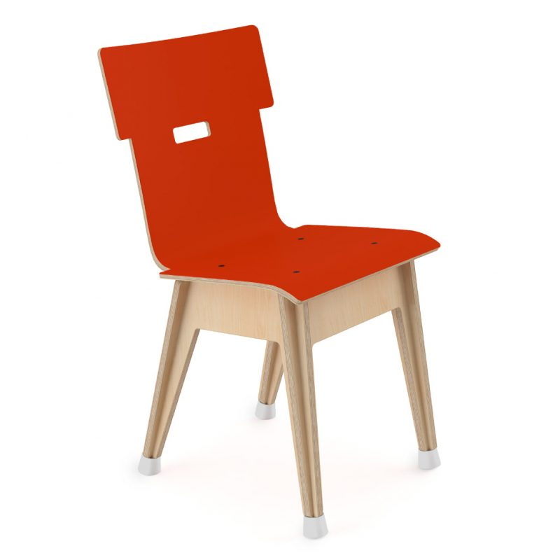 Din+ Dining Chair Laminate Red