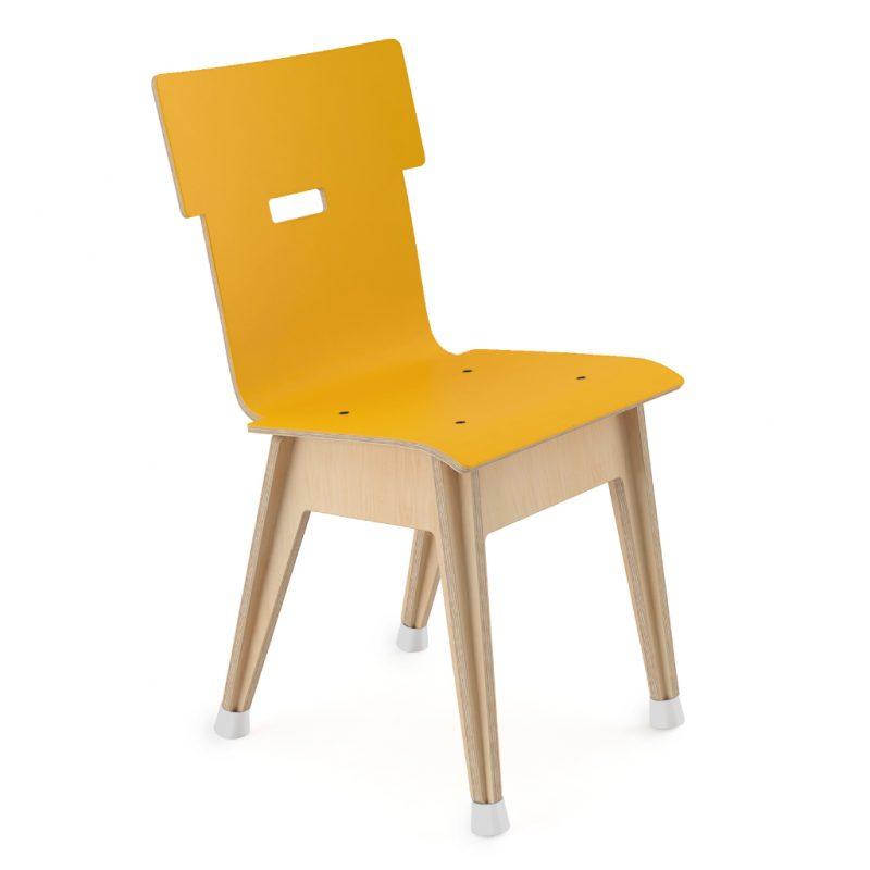 Din+ Dining Chair Laminate Sun Yellow