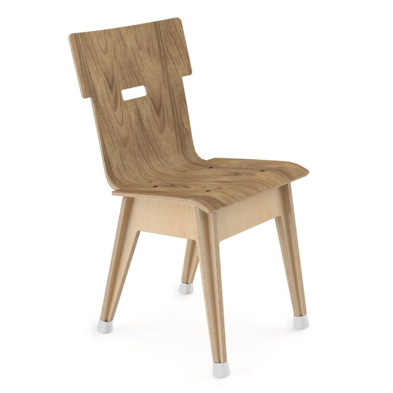 Din+ Dining Chair Natural Walnut