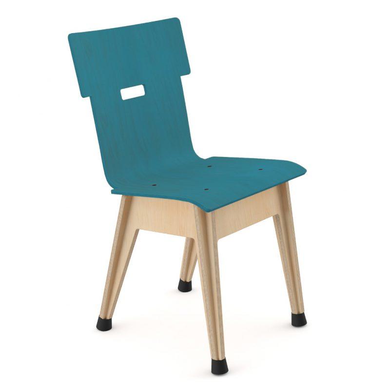 Din+ Dining Chair Stain Dark Blue