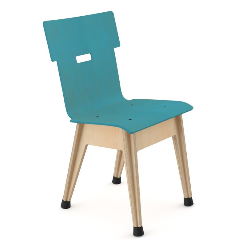 Din+ Dining Chair Stain Light Blue
