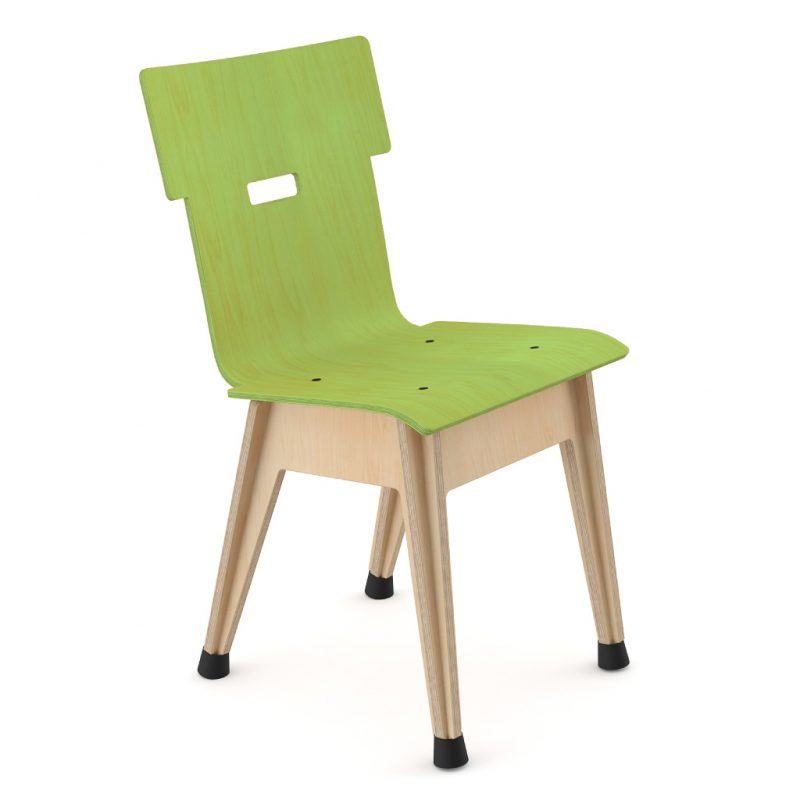 Din+ Dining Chair Stain Lime Green