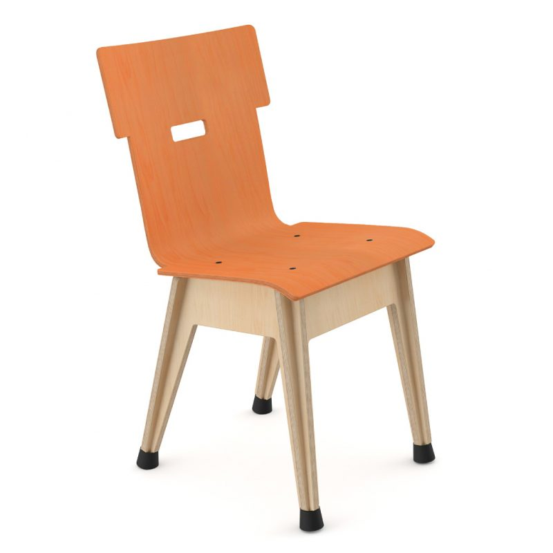 Din+ Dining Chair Stain Orange
