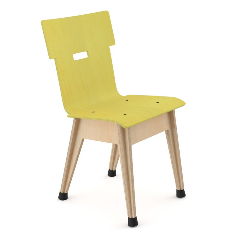 Din+ Dining Chair Stain Yellow