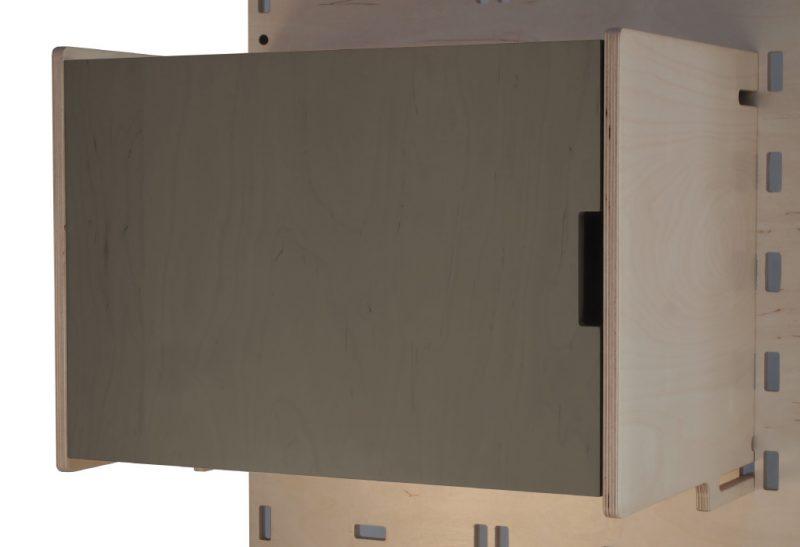 Klik Large Box Shelf Closed Charcoal