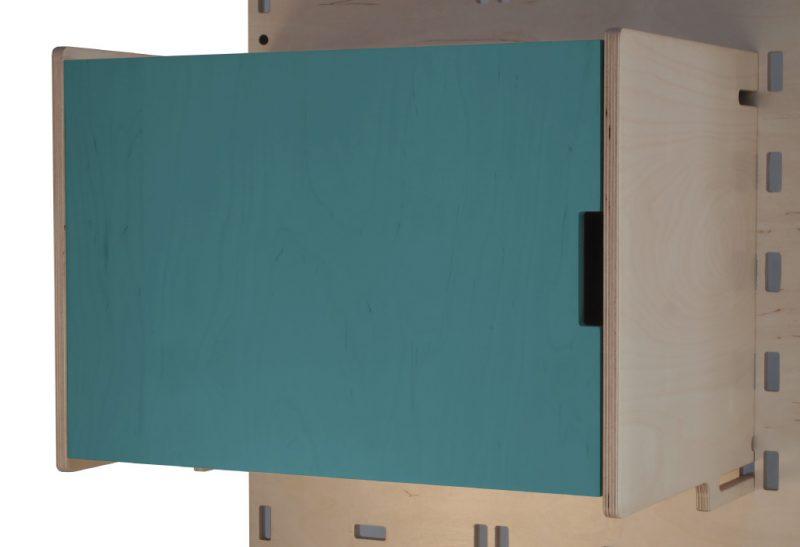 Klik Large Box Shelf Closed Dark Blue