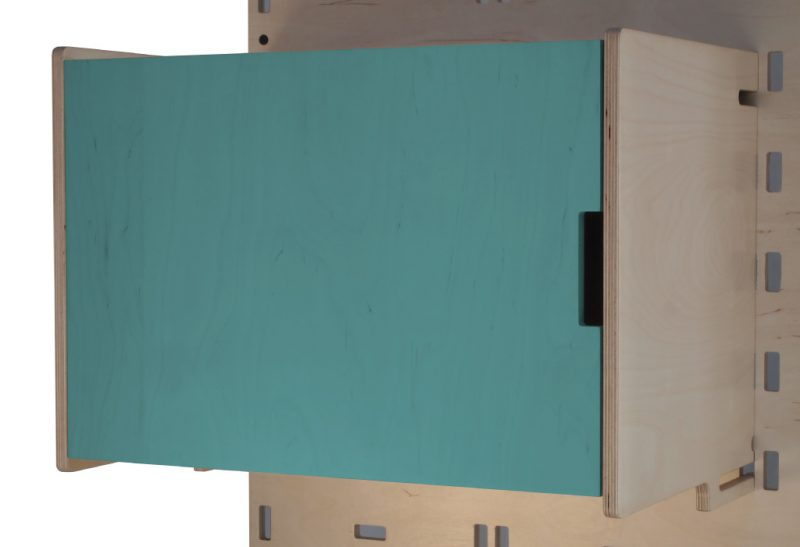 Klik Large Box Shelf Closed Light Blue