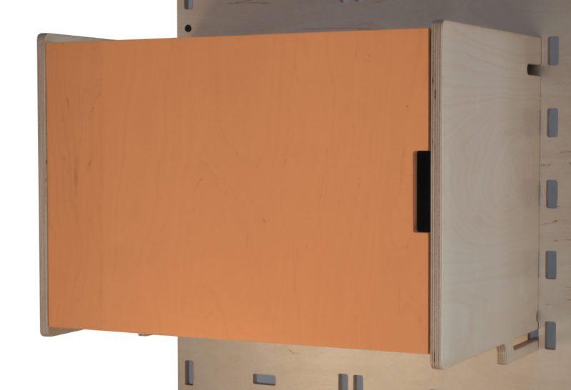 Klik Large Box Shelf Closed Orange