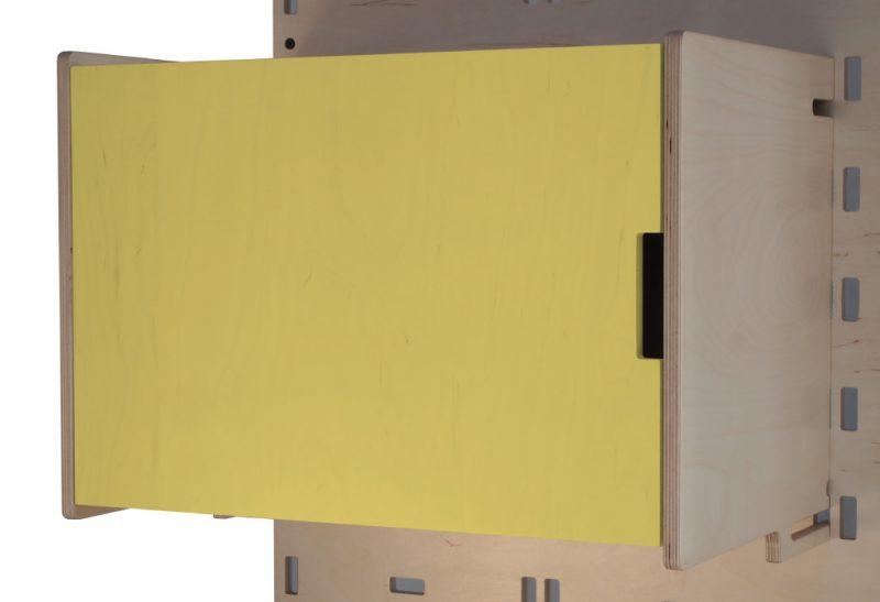 Klik Large Box Shelf Closed Yellow