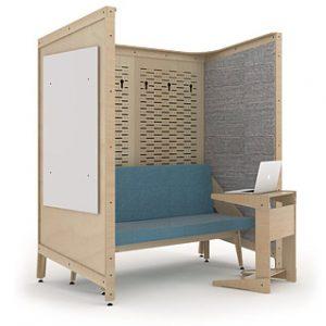 co-space quiet nook (grey) configuration