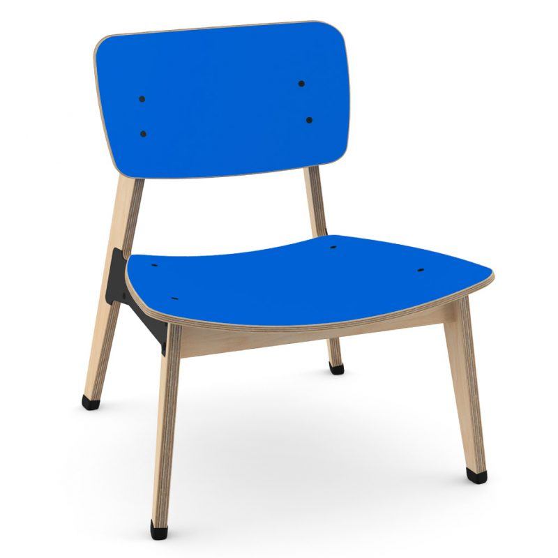 Ohtwo Occasional Chair 101 Laminate Atlantic Blue