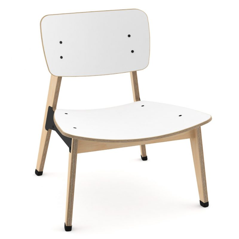 Ohtwo Occasional Chair 101 Laminate Pure Arctic White