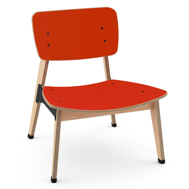 Ohtwo Occasional Chair 101 Laminate Red