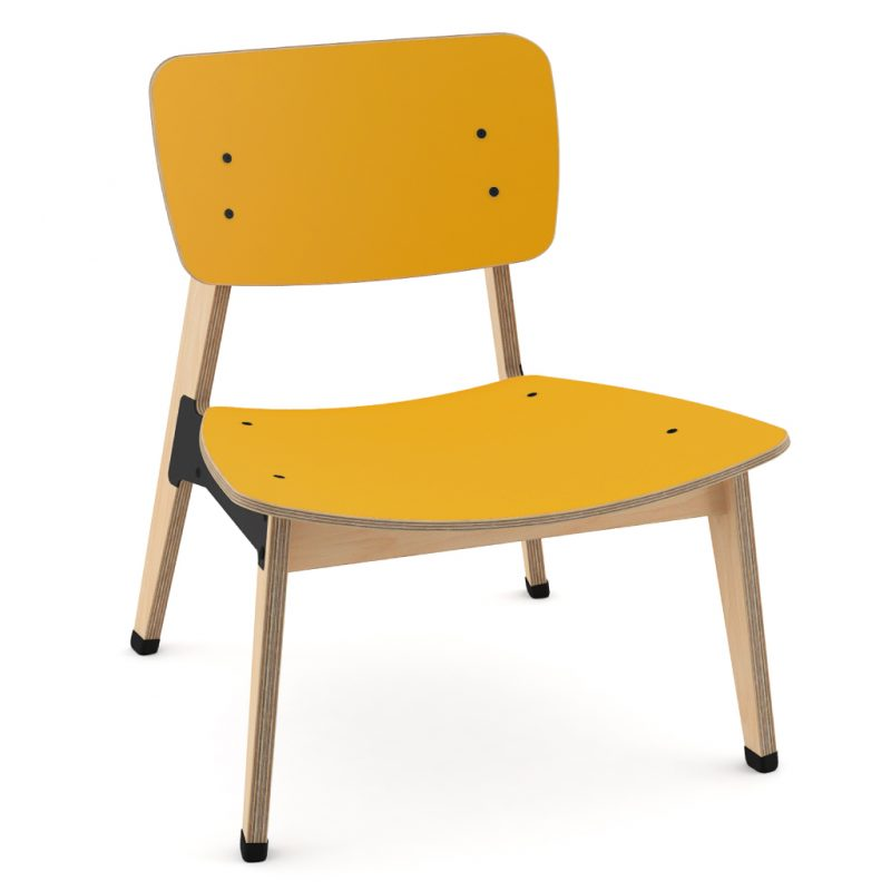Ohtwo Occasional Chair 101 Laminate Sun Yellow