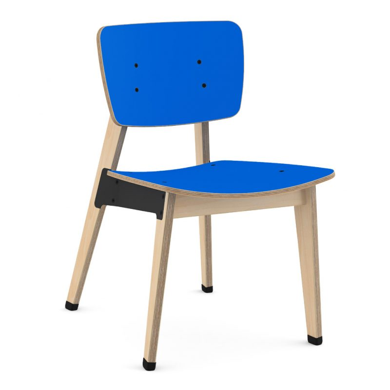 Ohtwo Dining Chair 100 Laminate Atlantic Blue