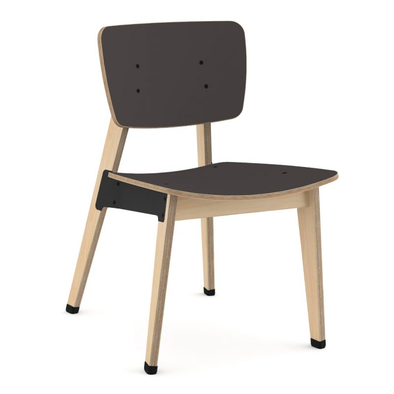 Ohtwo Dining Chair 100 Laminate Charcoal