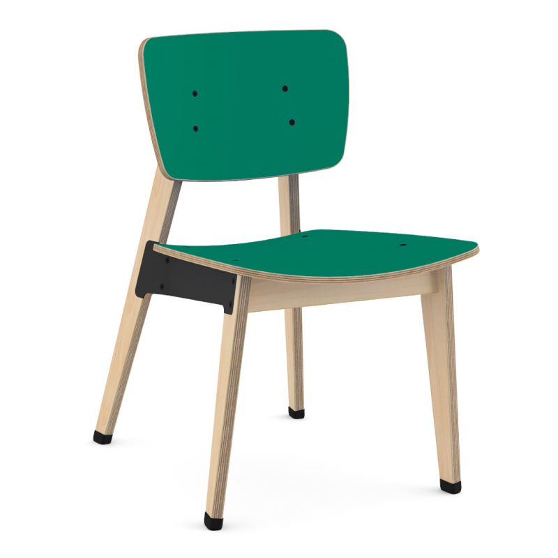 Ohtwo Dining Chair 100 Laminate Grass Green