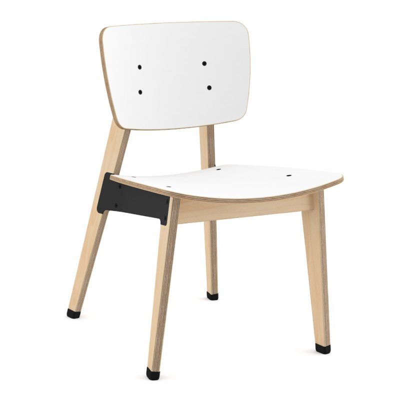 Ohtwo Dining Chair 100 Laminate Pure Arctic White