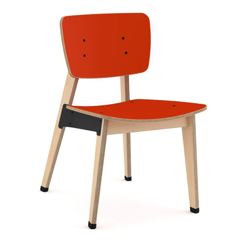 Ohtwo Dining Chair 100 Laminate Red