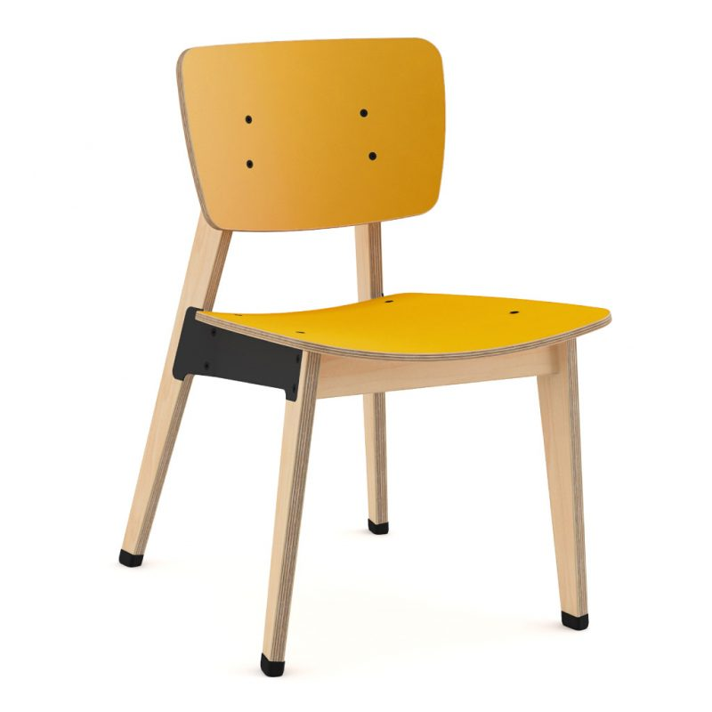 Ohtwo Dining Chair 100 Laminate Sun Yellow