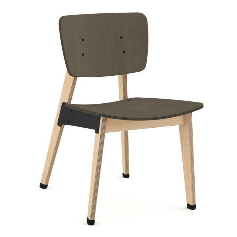 Ohtwo Dining Chair 100 Stain Charcoal