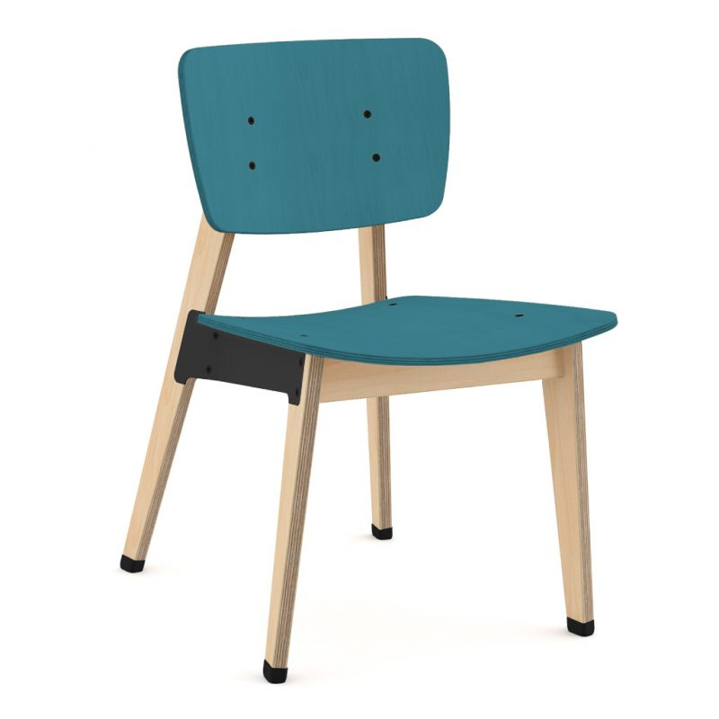 Ohtwo Dining Chair 100 Stain Dark Blue