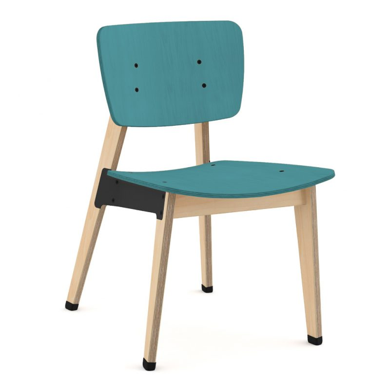 Ohtwo Dining Chair 100 Stain Light Blue