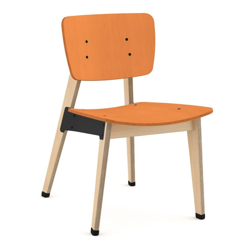 Ohtwo Dining Chair 100 Stain Orange