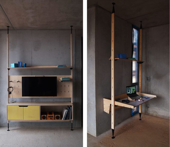 RAW Studios plywood furniture systems Africa Instute Construction