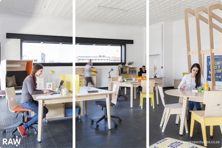 RAW Studios Open plan office design