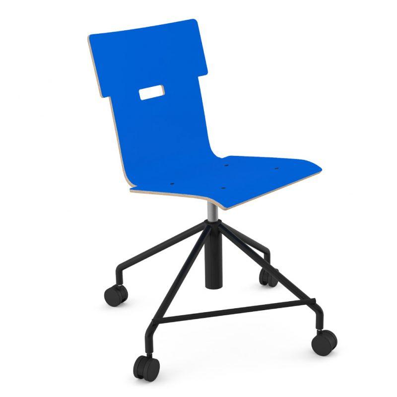 Handi Chair Steel 101 Laminate Atlantic Blue