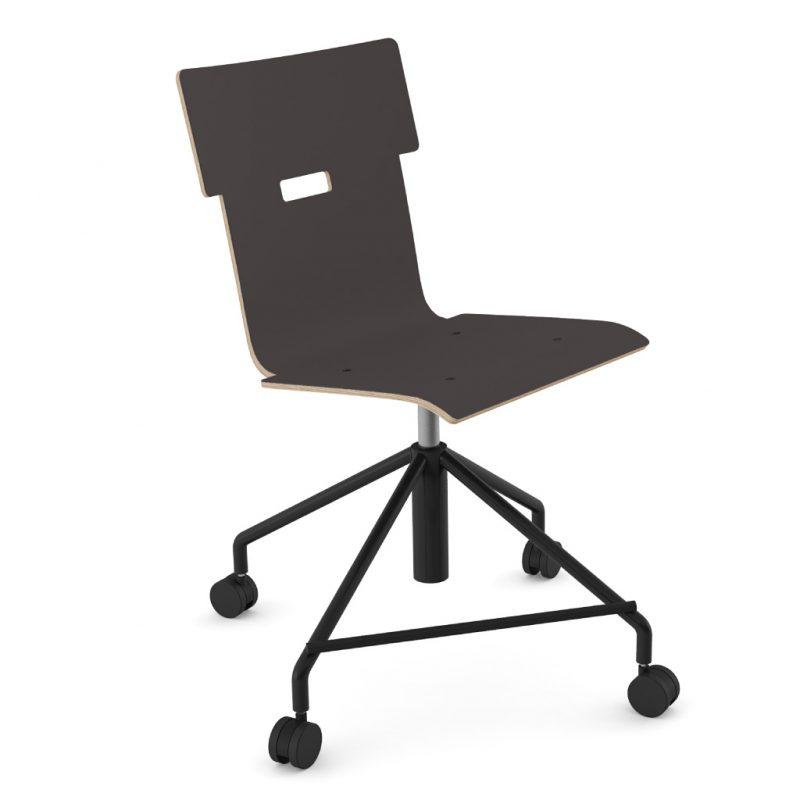Handi Chair Steel 101 Laminate Charcoal