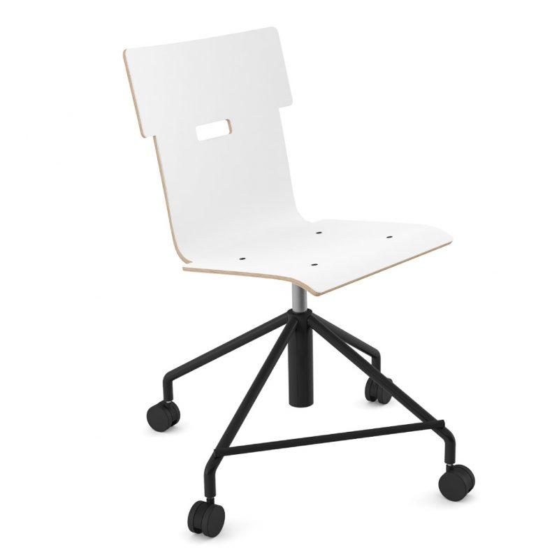 Handi Chair Steel 101 Laminate Pure Arctic White