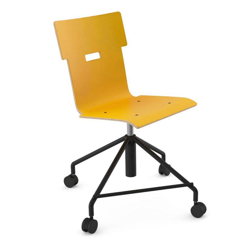 Handi Chair Steel 101 Laminate Sun Yellow