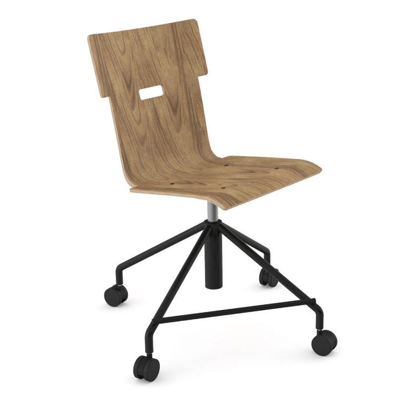Handi Chair Steel 101 Natural Walnut