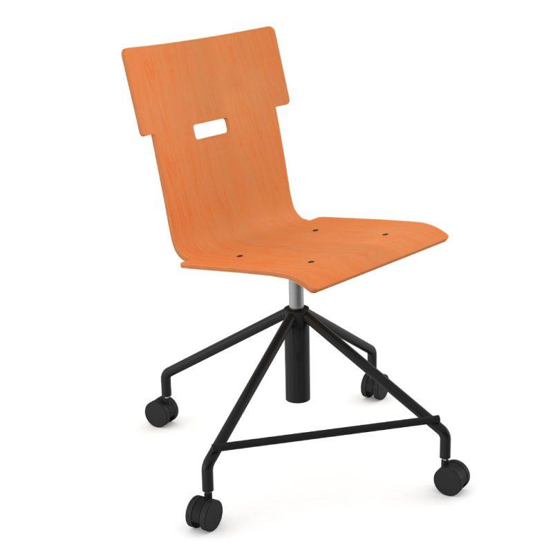 Handi Chair Steel 101 Stain Orange