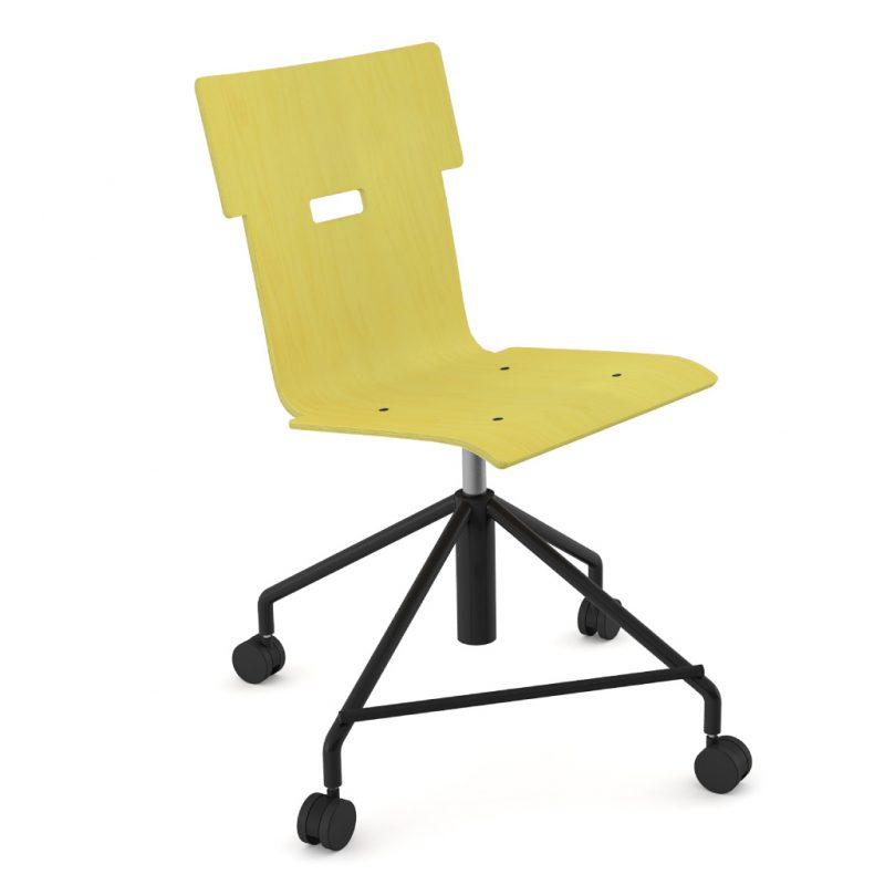 Handi Chair Steel 101 Stain Yellow