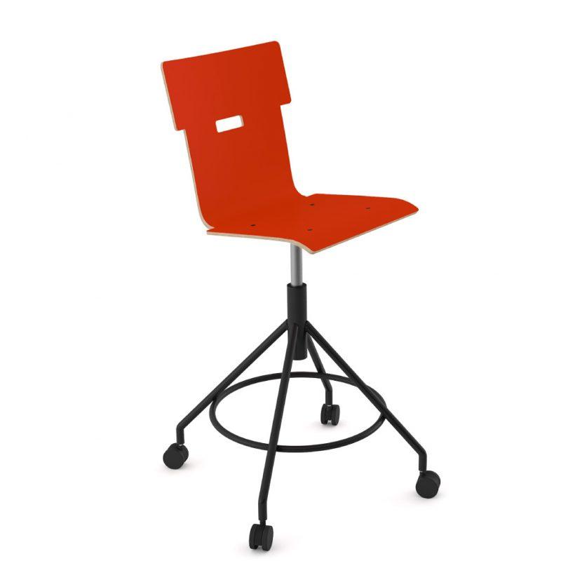 Handi Chair Tall 102 Laminate Red