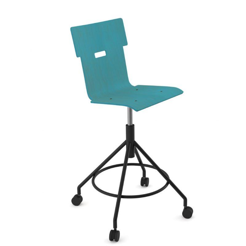 Handi Chair Tall 102 Stain Light Blue