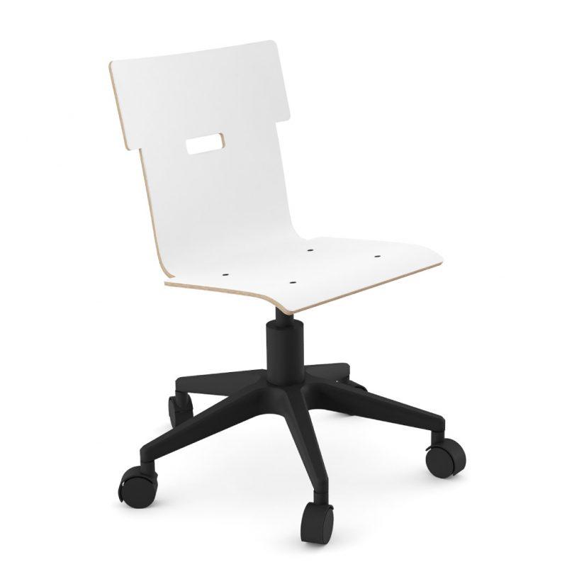 Handi Chair 100 Laminate Pure Arctic White