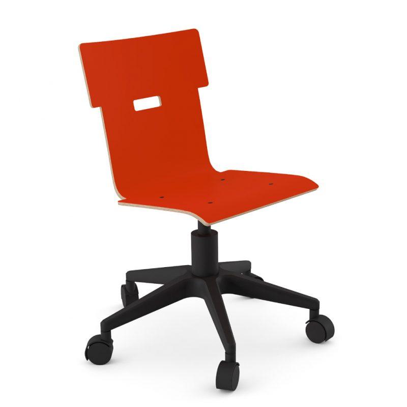 Handi Chair 100 Laminate Red